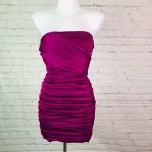 NWT Magenta Strapless Express Mini Dress Sz 0
